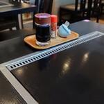 ふみ野 - テーブルの卓上
