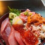 ふみ野 - 海鮮丼(うに入り)