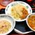 日高屋 - 料理写真:つけ麺大盛り細麺変更+半チャーハン