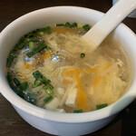 福天 - ランチセットの中華スープ