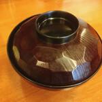 128916350 - 味噌汁のお碗