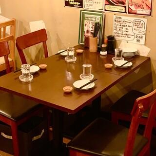 【普段使いや接待にもオススメ】4名様までのテーブル席