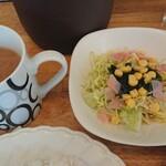 パセリ - サラダと味噌汁