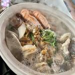 阿武隈ライン舟下り - 料理写真:寄せ鍋