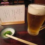 寺方蕎麦 長浦 - 「生ビール」「お通し」など