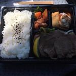 焼肉 生一本 - ポテサラにはフライドG カクテキ 肉下には野菜があり バランス良好!