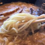ラーメン若大 - ちゅるちゅるストレート細麺