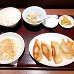 128946041 - 焼餃子定食