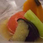 つかさや旅館 - 夕食 夏野菜の煮物