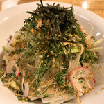 料理や こうしゅう庵 - かつらむき大根と揚げじゃこサラダ