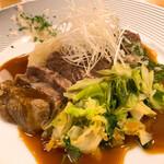 料理や こうしゅう庵 - ワインビーフほほ肉のやわらか煮