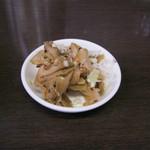 担々麺 杉山 - 「ザーサイ」です。