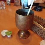 128964076 - アイスコーヒー。