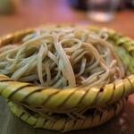 三城 - 料理写真:ここは撮影不可のお店。ご注意を。でもとても美しい竹編みの蕎麦の器。あまりに綺麗だったので女将さんにお願いして許可を頂いてパチリ。