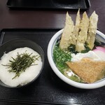 うどん満月 - ランチセット(汁うどん・ミニ丼=山かけ丼)