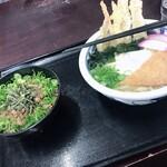 うどん満月 - ランチセット(汁うどん・ミニ丼=そぼろ丼)