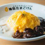 ハヤシ&キノコクリームオムライス