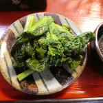 江戸家 - 菜の花の辛子あえ