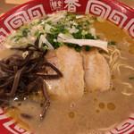 麺堂 香 - チャーシューは肉肉しすぎ、トゥーマッチ