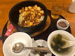中国料理 珍満 - セット石焼き麻婆かけご飯