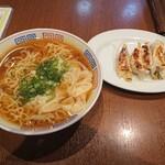 ゆかわ食堂 - 2020年3月 雲呑麺+焼餃子 800+500円