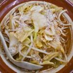 128998191 - 野菜みそラーメン(にんにく・背脂トッピング)