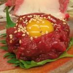 桜なべ中江別館 金村 - タルタルステーキ (刺し盛り合わせ)