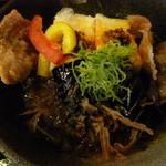 12900425 - 茄子と豆腐の揚げ出汁風炒め♪