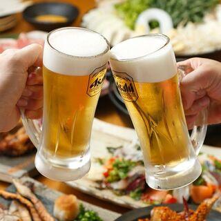 生ビール含む50種類以上の飲み放題地域最安の2時間980円!