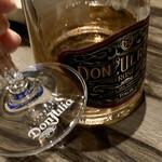 炙りにく寿司食べ放題と食べ飲み放題 個室居酒屋 灯 - グラスをよくよく見たら「リーデル」制でこのワインのロゴ入りの専用グラスでした。こだわってますね!