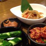 Dining kaze 池袋の風 - 栃木男子のきんぴら・ころころチャンジャ・お通しのきゅうり