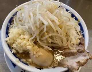ラーメン 大 - らーめん 中 味玉 タマネギ(ニンニク多め)