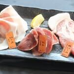 琉球焼肉なかま - あぐー豚3種盛り