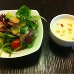 12902614 - サラダ、冷製スープ