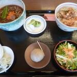 たつみそば - 料理写真:'20/04/11 温セット(1,000円+税)