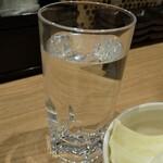 京の串揚げ 祇園囃子 - 麦焼酎 お湯割り