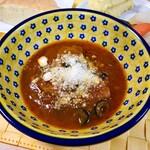 129050932 - カチャトーラ(信玄鶏のトマト煮込み)&ピクルスとスモークマッシュポテト