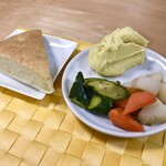 129050933 - カチャトーラ(信玄鶏のトマト煮込み)&ピクルスとスモークマッシュポテト