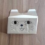 129051774 - 誰からも頼まれてませんが空き容器を利用してたんどーるのキャラクター猫ちゃんの仮面を作りました