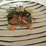 リストランテ カノフィーロ - 桜エビとワカサギ、ほうれん草のフリッタータ