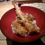 そば道 西のはなれ - ランチの海老天丼