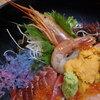 やまだや海鮮割烹 - 料理写真:雲丹、牡丹海老、赤身、海藻クリスタル?