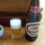 とんかつ山家 - ビール 520円 ♪