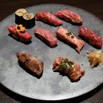 牛肉寿司 きんたん - 牛肉寿司9貫