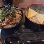 Udommura - 牛丼セット