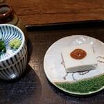 日進月歩 - そば豆腐と、蕎麦つゆ