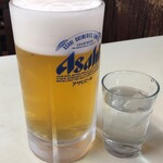 食道楽 - 生ビール中800円