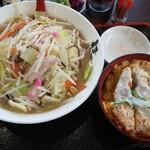 伊万里ちゃんぽん - 料理写真:ちゃんぽん+ミニカツ丼セット