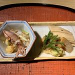 もと井 - ②穴子寿司、ホンシメジのフライ◎