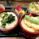 錦鮨 - うどん&天ぷら&デザート&サラダ